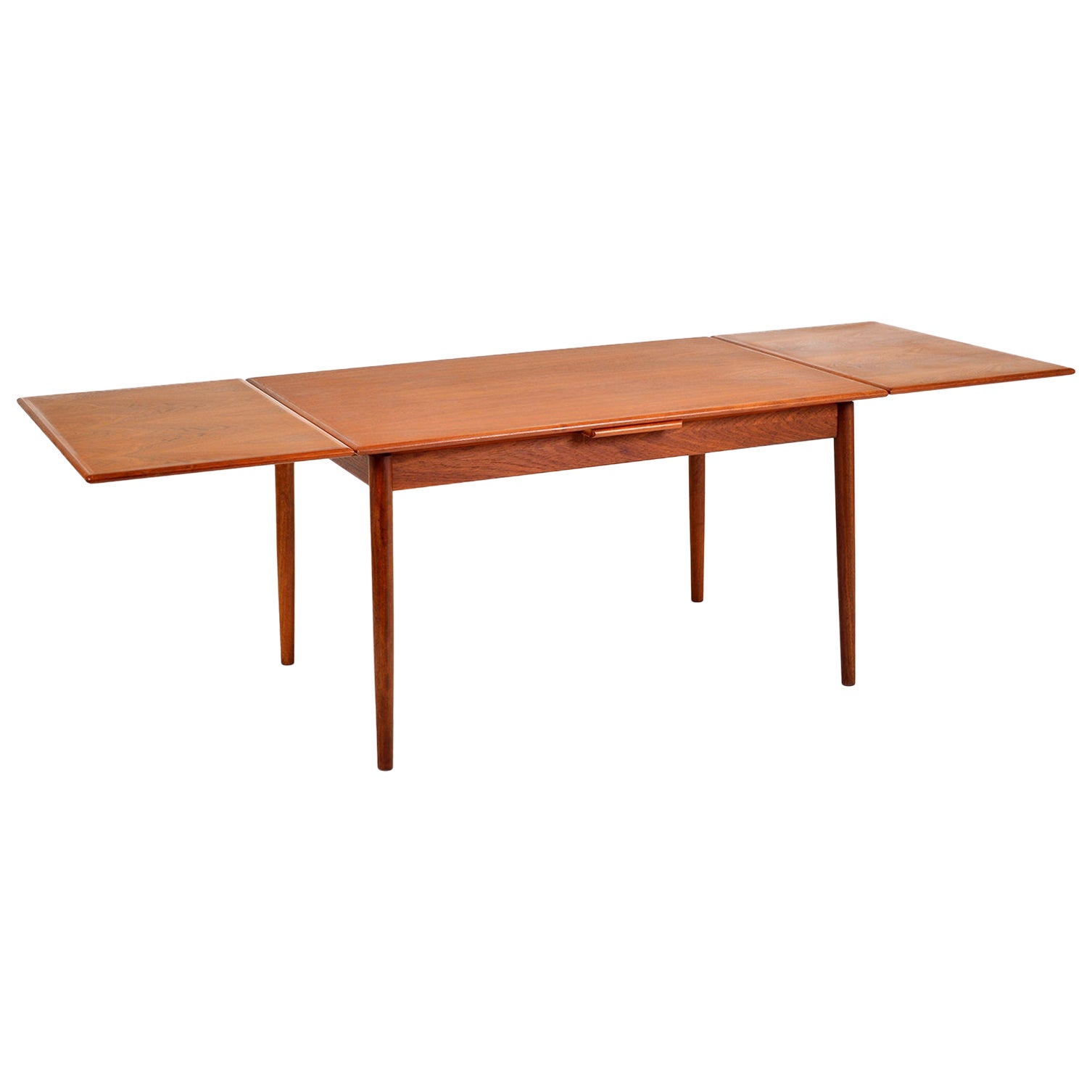 1960s Danish Modern Teak Extending Dining Table AM Ansager Mobler Midcentury