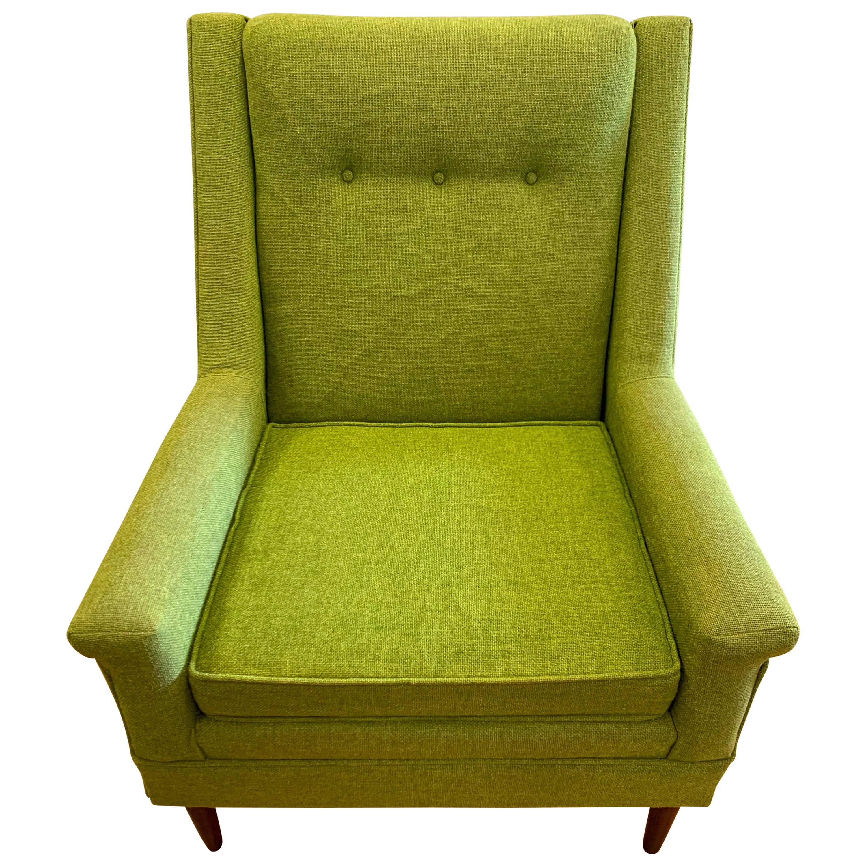 Flexsteel Midcentury Green Upholstered Modern Lounge Chair
