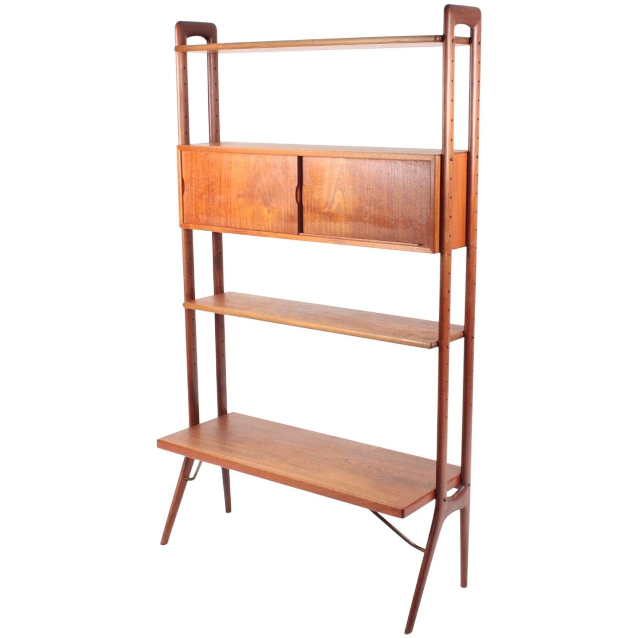 Midcentury Freestanding Bookcase in Teak by Kurt Østervig, 1960s