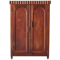 Vintage Petite Armoire with Fluted Edge