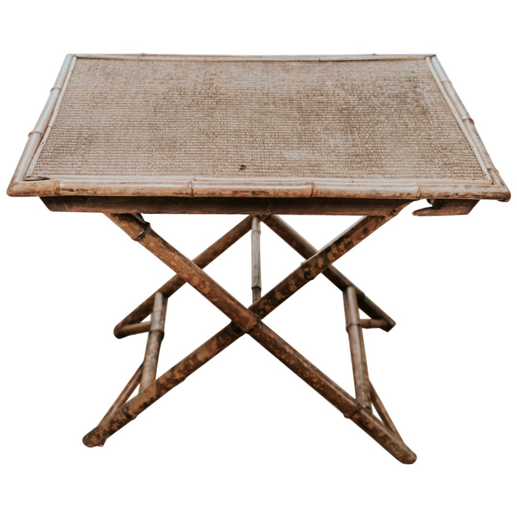 Rattan/Faux Bamboo Folding Table