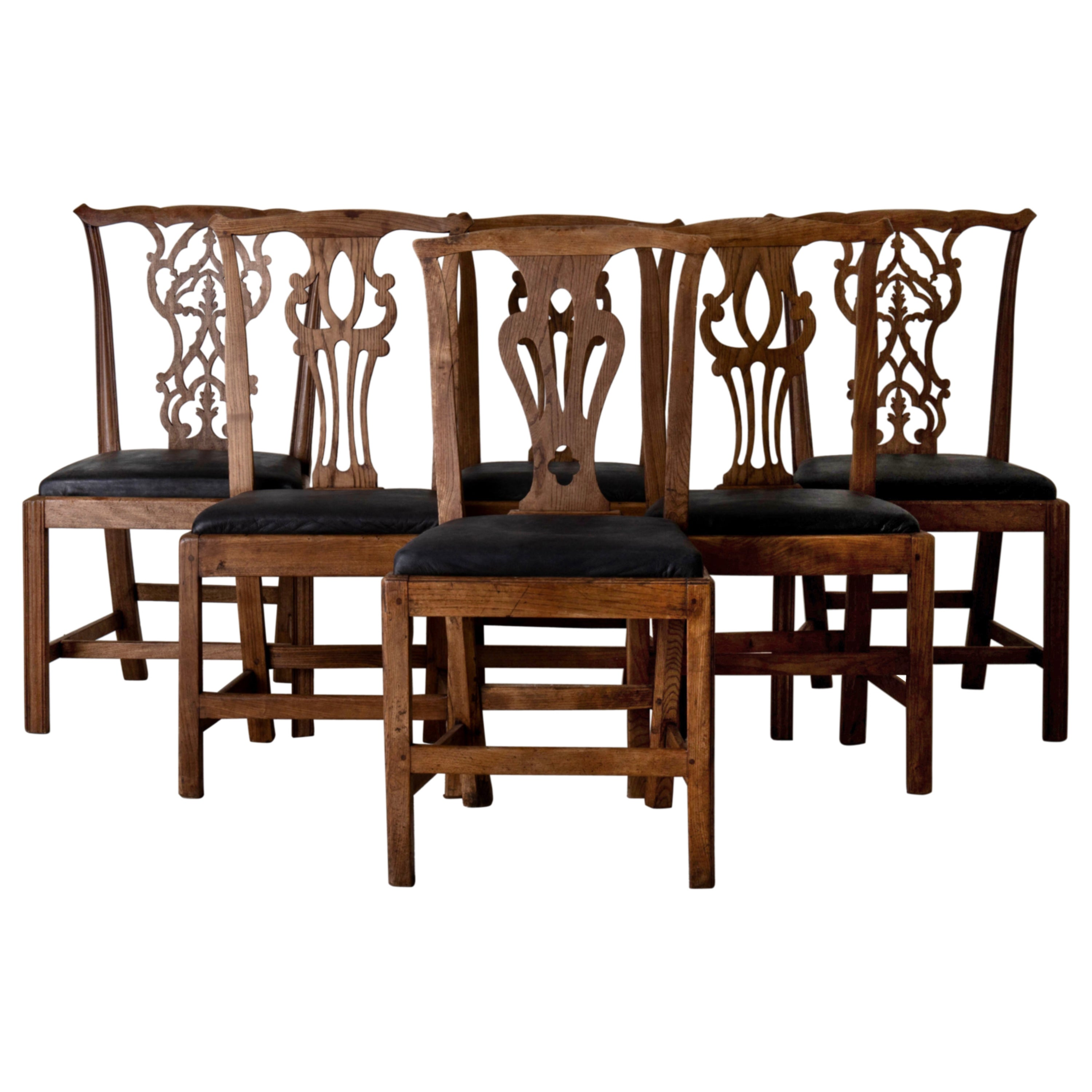 Dining Chairs English Set of 6 Assembled Chippendale England