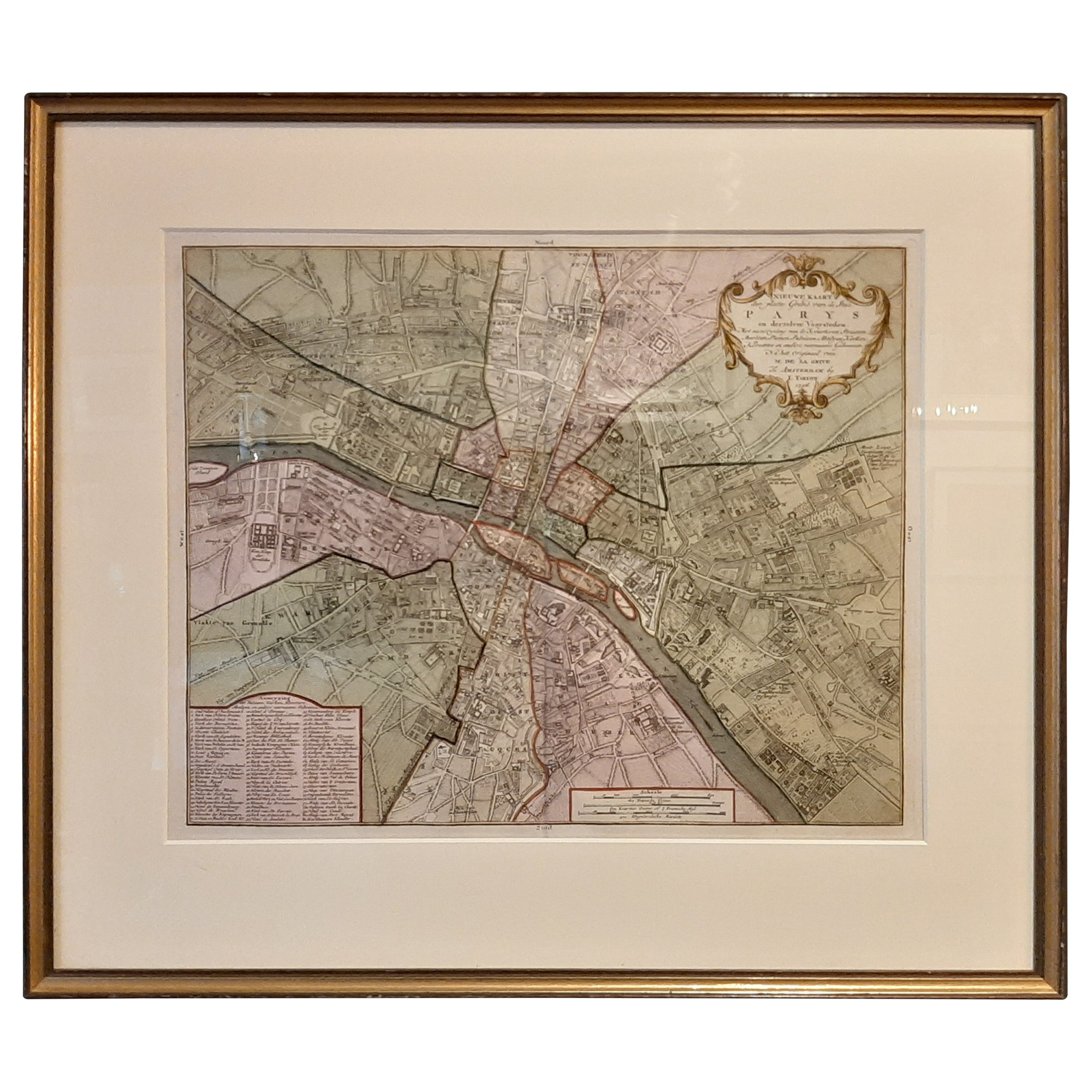 Antique Map of the City of Paris by Tirion '1763'