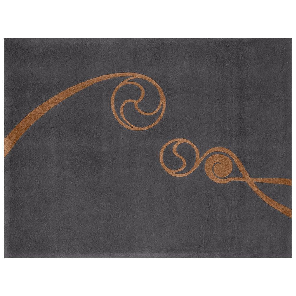 """""""Foinse"""" Limited Edition Owl Grey Irish Wool, Gold Silk Rug & Tapestry by Rhyme"""