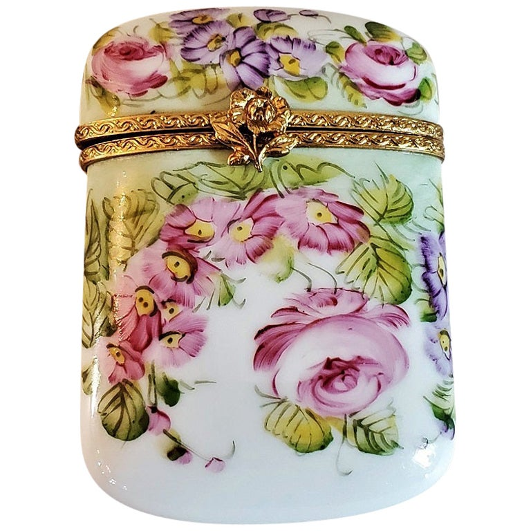 Vintage Limoges Purse Shaped Box