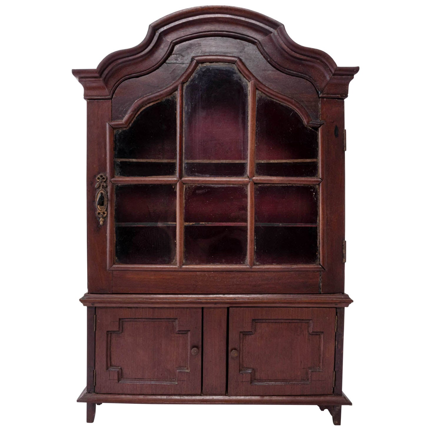 Dutch Baroque Miniature Vitrine Cabinet
