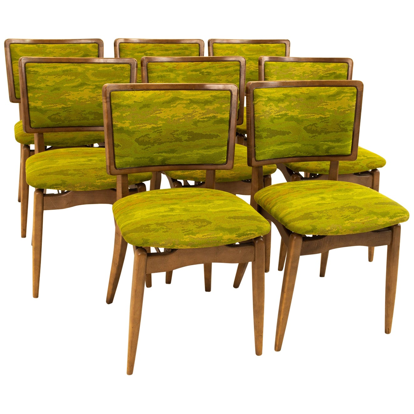 Stakmore Mid Century Folding Dining Chairs - Set of 8
