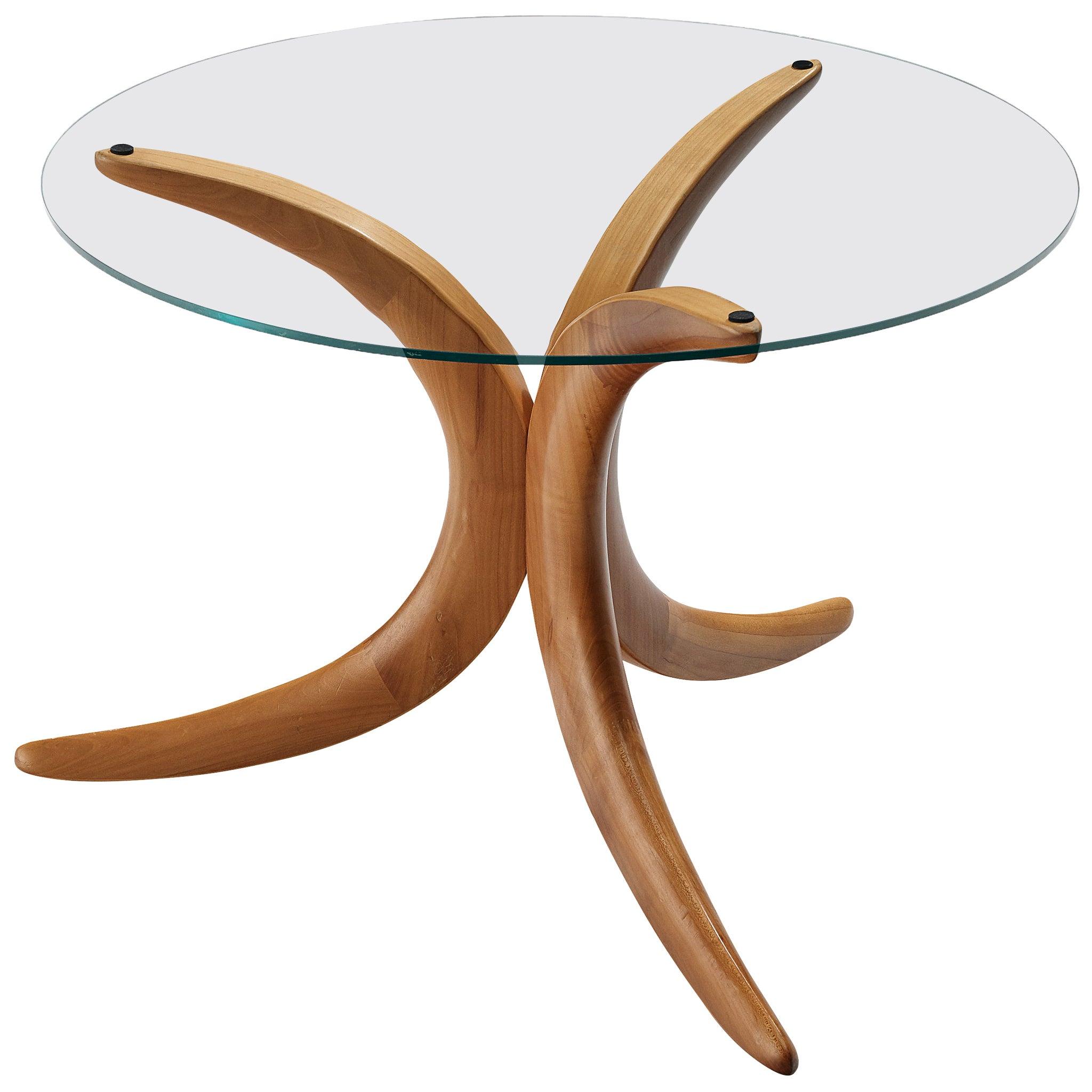 Organic Shaped Tripod Coffee Table
