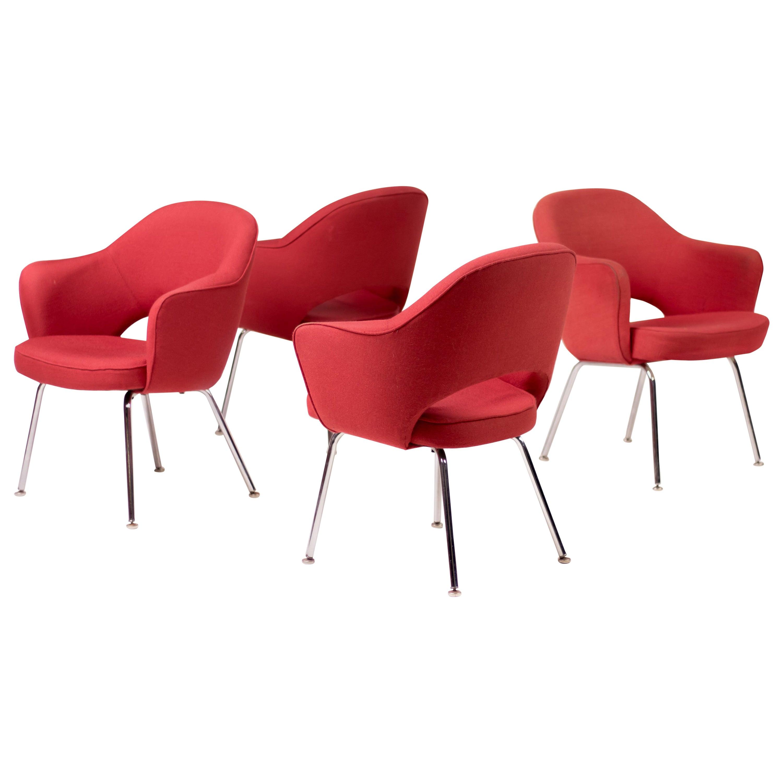 Set of Four Saarinen Executive Armchairs by Knoll International