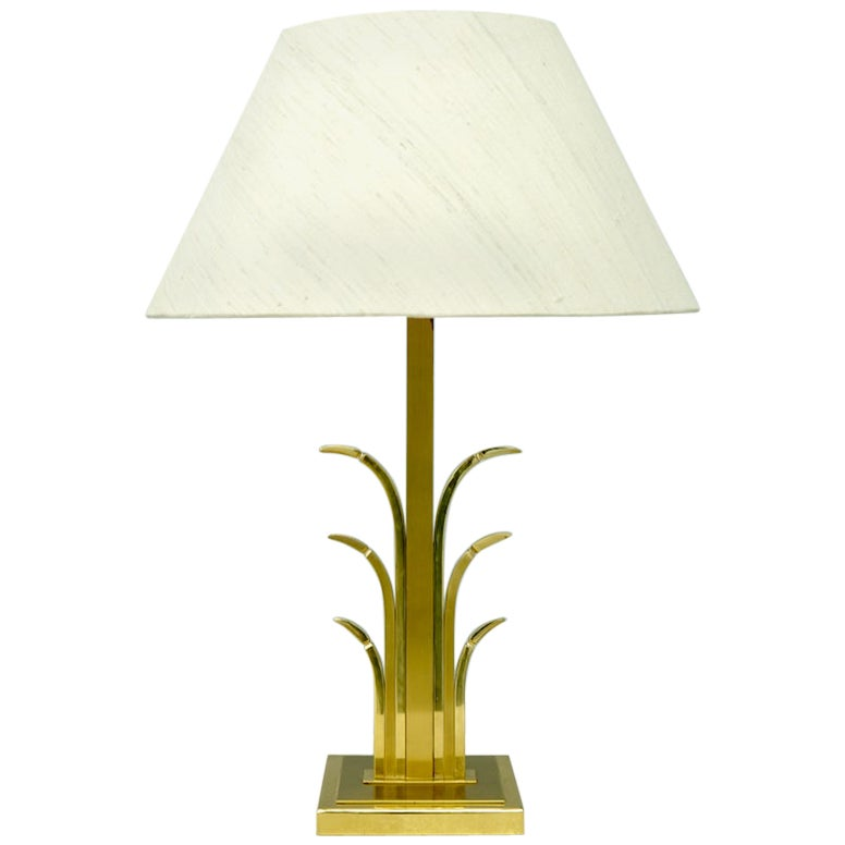 Brass Table Lamp, France, 1970s