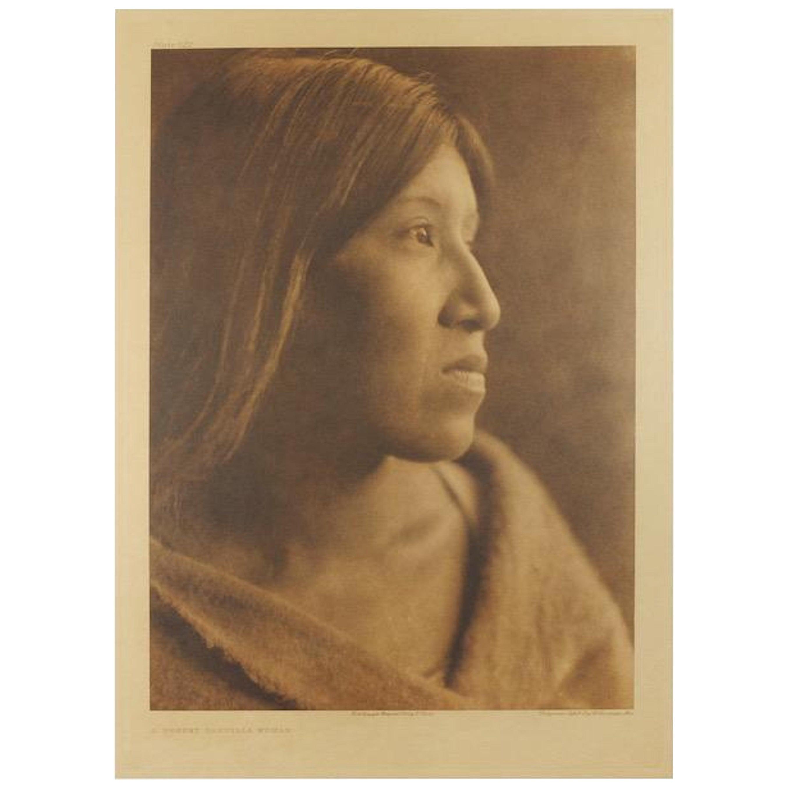"""Original Edward S. Curtis, """"A Desert Cahuilla Woman,"""" Photogravure, 1924"""