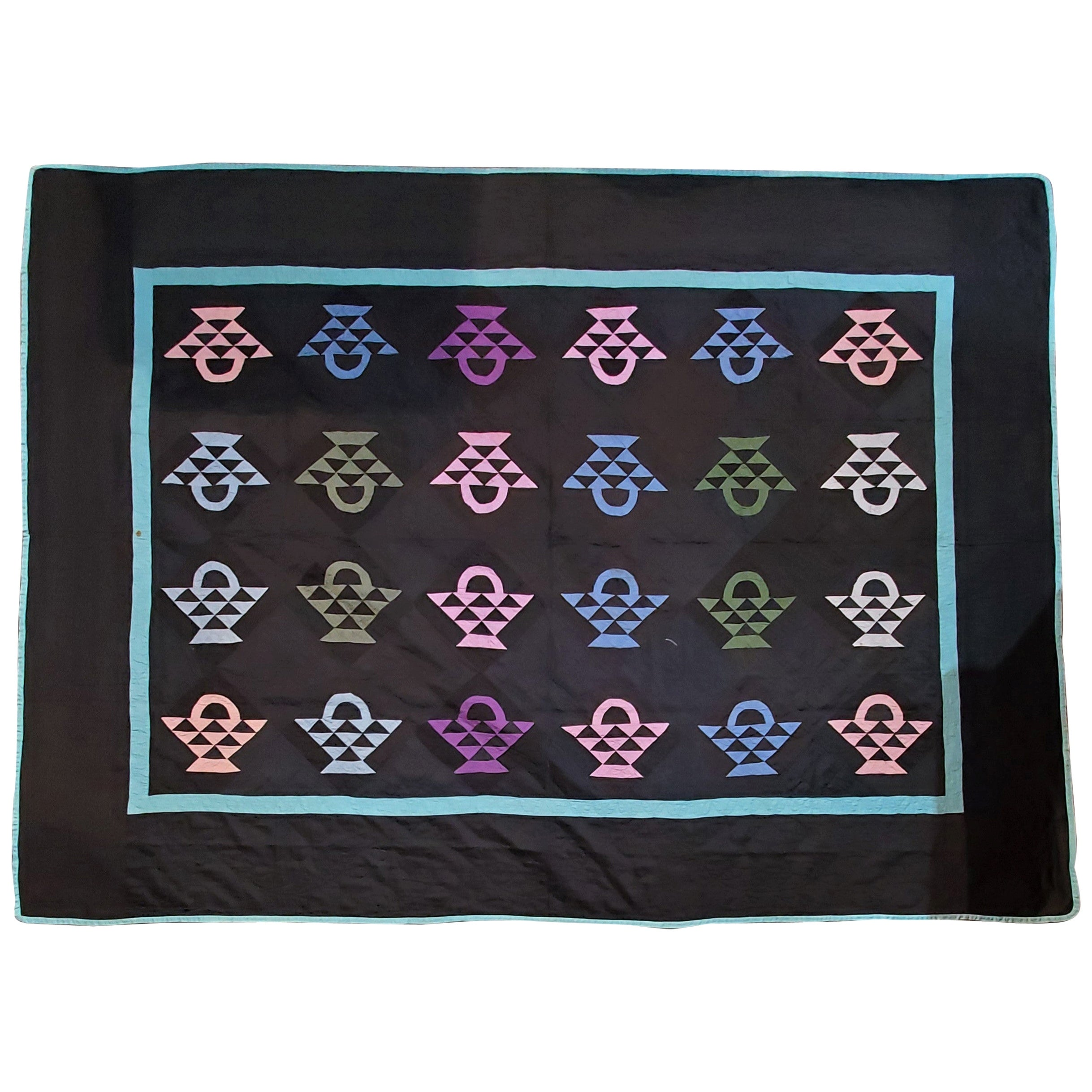 Amish Baskets Quilt from Holmes County, Ohio