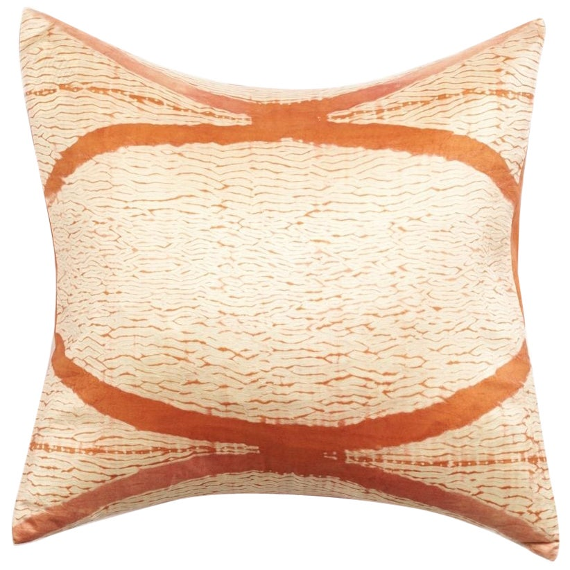 Arc Coral Shibori Silk Pillow