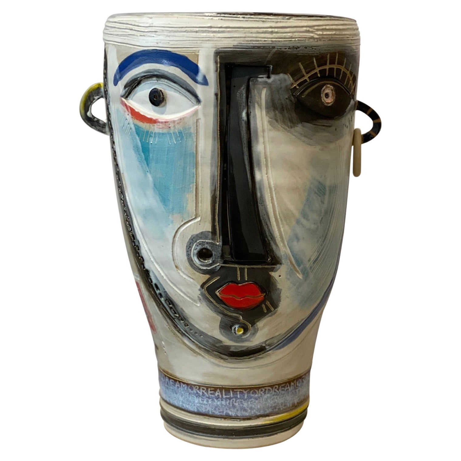 Ceramic Vase Sculpture One of a Kind Signed by Dalo
