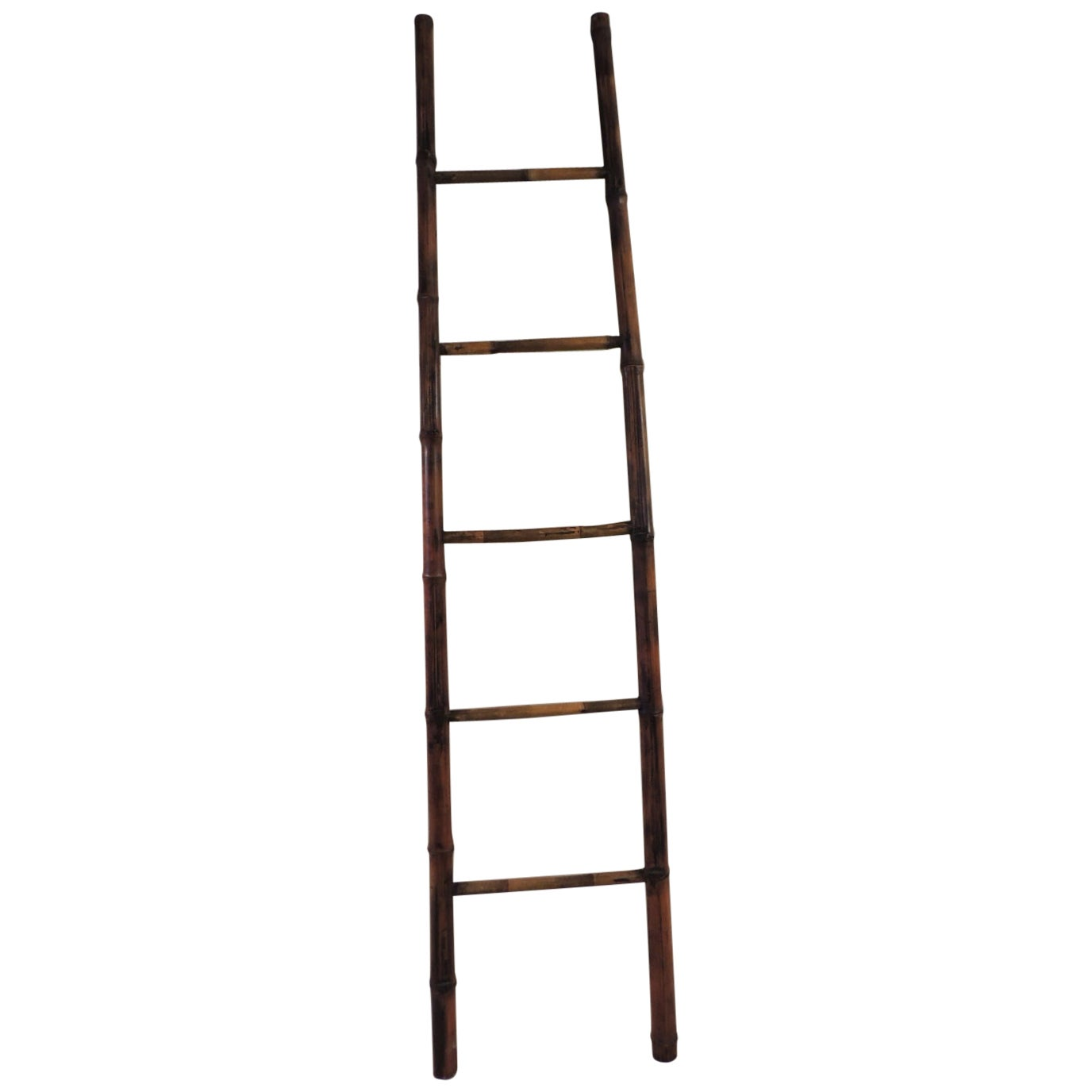 Vintage Tall Asian Bamboo Ladder