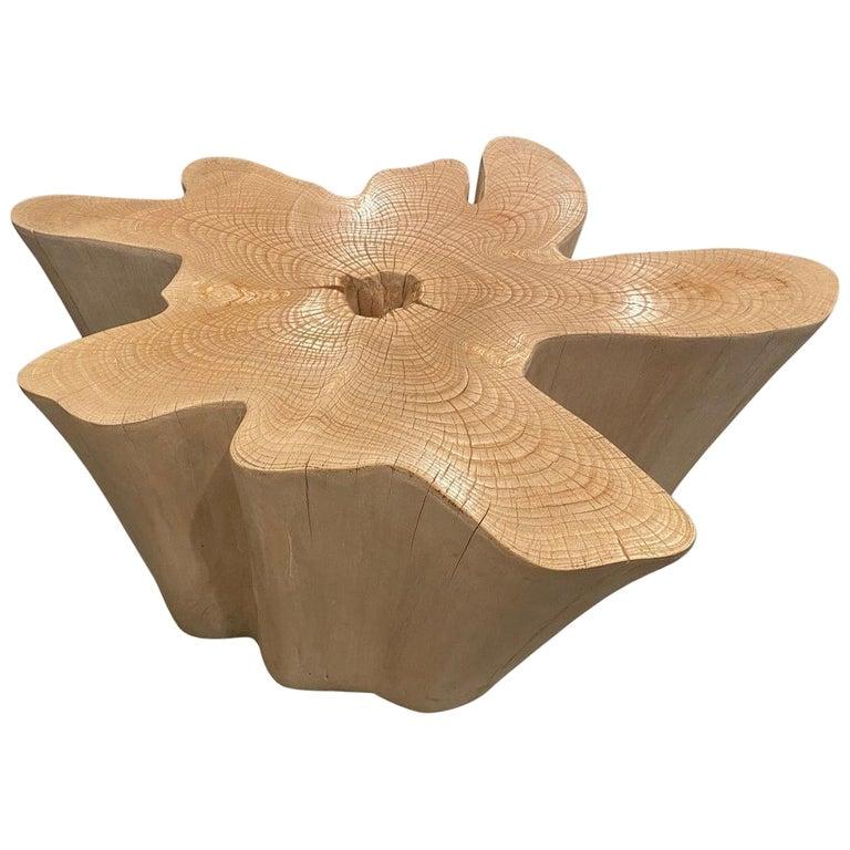 Andrianna Shamaris St. Barts Bleached Teak Wood Coffee Table