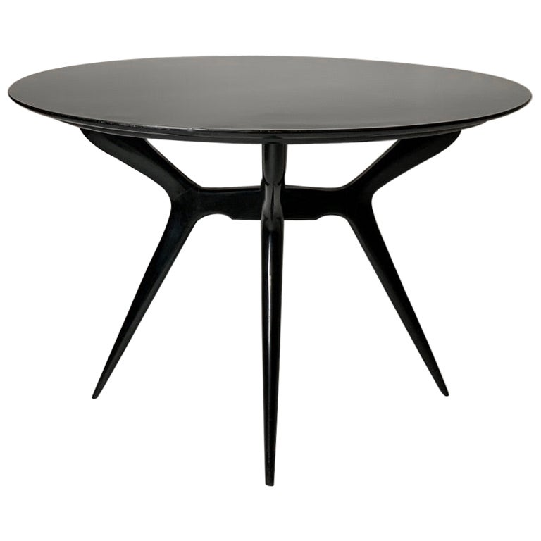 Midcentury Italian Round Dining Table or Centre Table