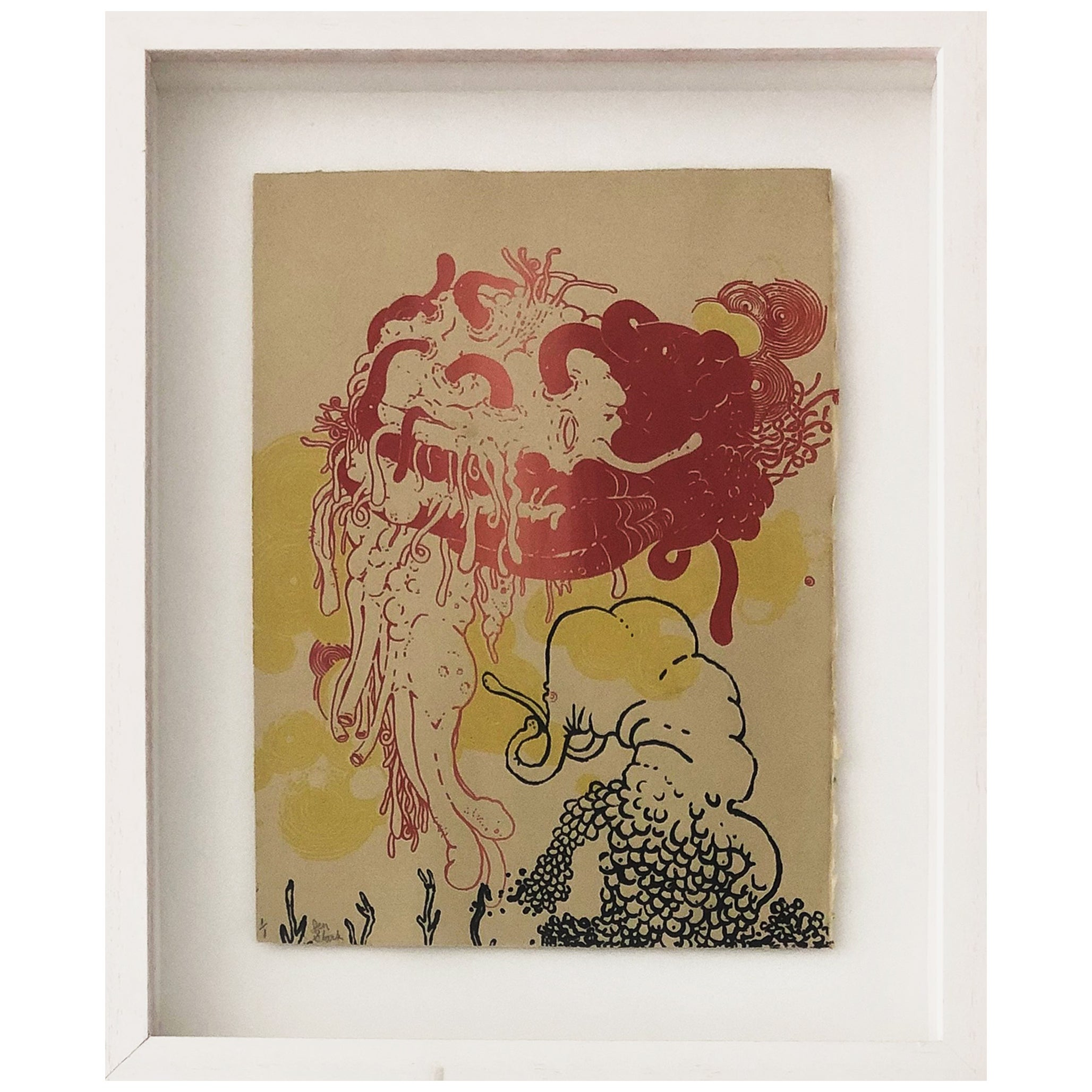 Untitled #2 - Limited Edition 1/1  Screen Print Framed