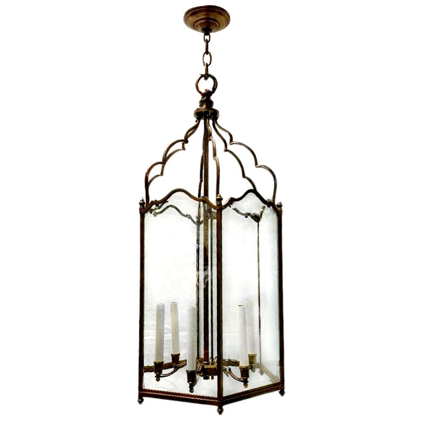 French Patinated Bronze Lantern