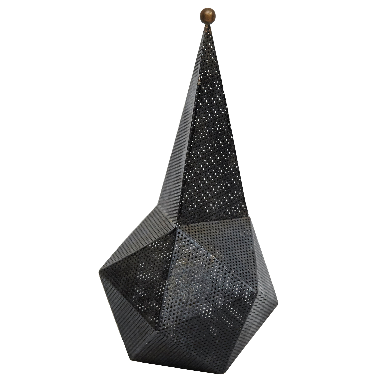 After Mathieu Matégot Mid-Century Modern Lacquered Metal Table Lamp