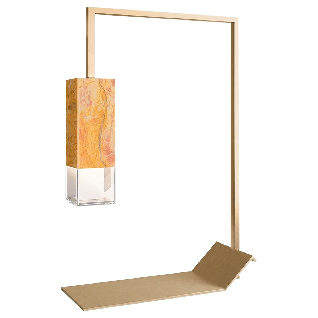 Lamp/Two Pink Yellow Marble Table Lamp