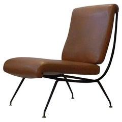 Gastone Rinaldi for RIMA, Mid-Century Modern Leather Armchair Model DU24, 1956