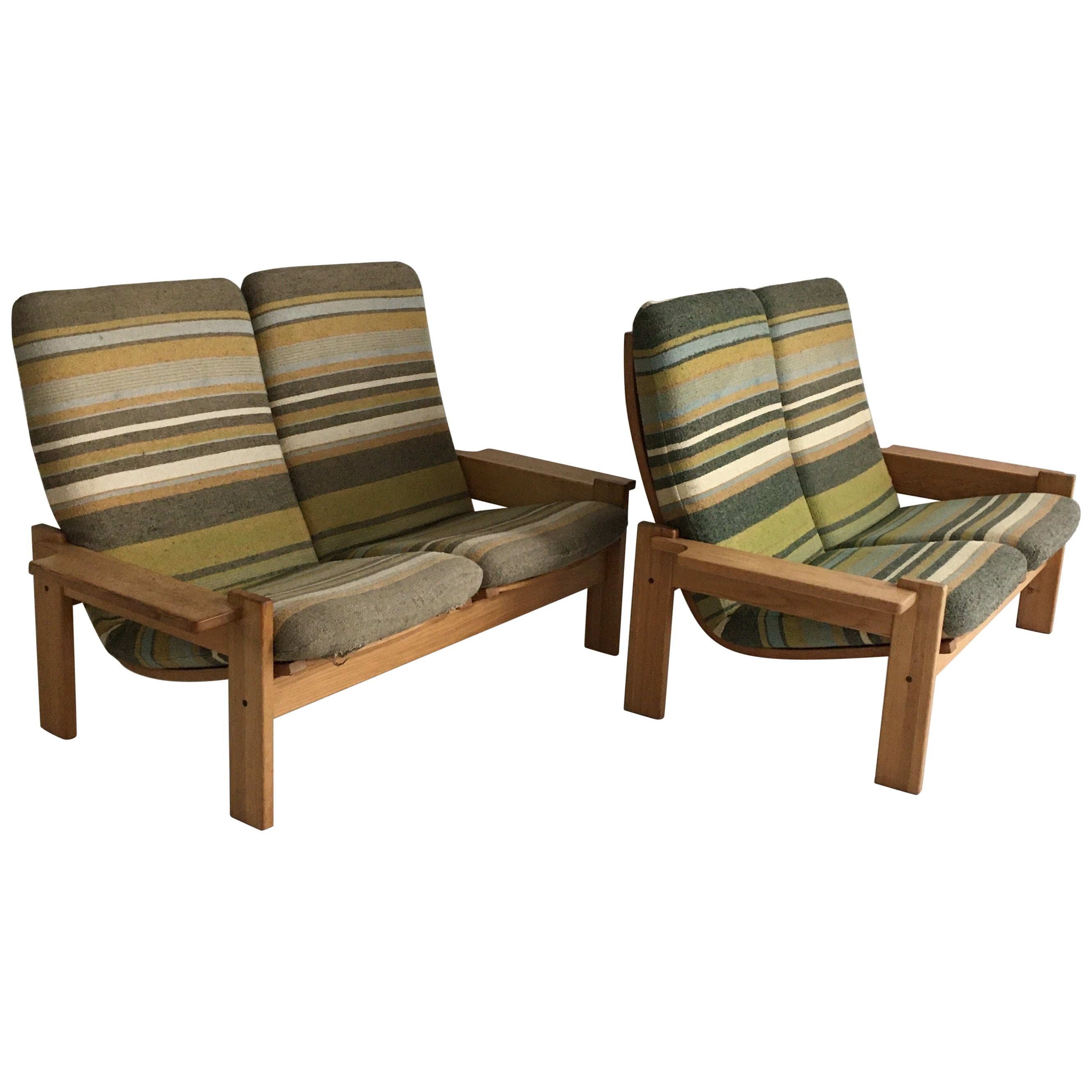 Yngve Ekstrom for Swedese Møbler Two-Seat Sofas Loveseats a Pair