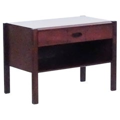 Ico Parisi for MIM, Italian Mid-Century Set of Walnut Bed-Side Tables, 1950