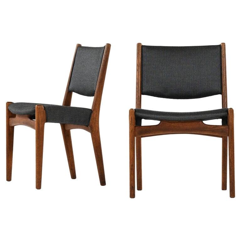 Hans Wegner Dining Chairs by Cabinetmaker Johannes Hansen in Denmark For Sale