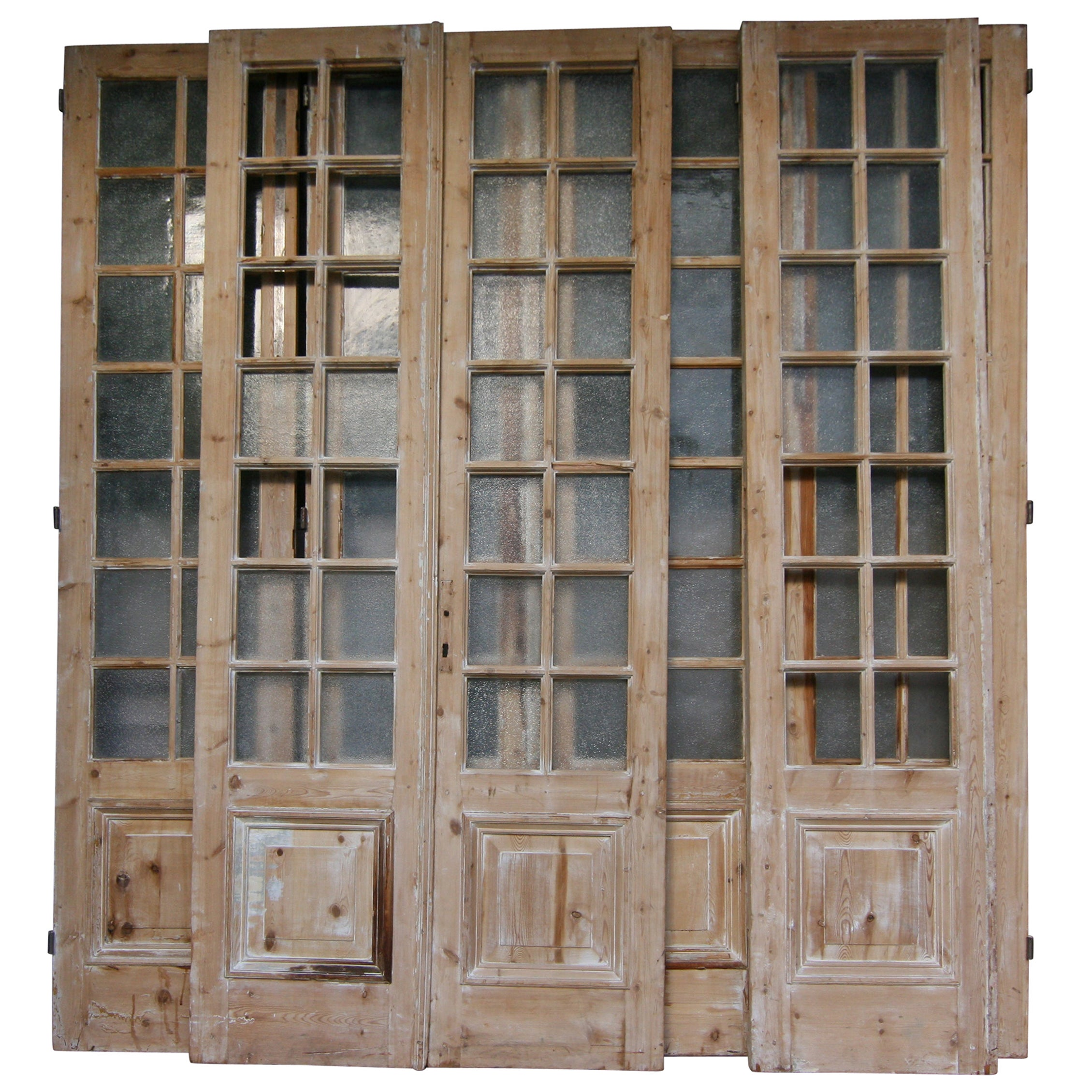 19th Century French Doors Made of Pine, Set of 7