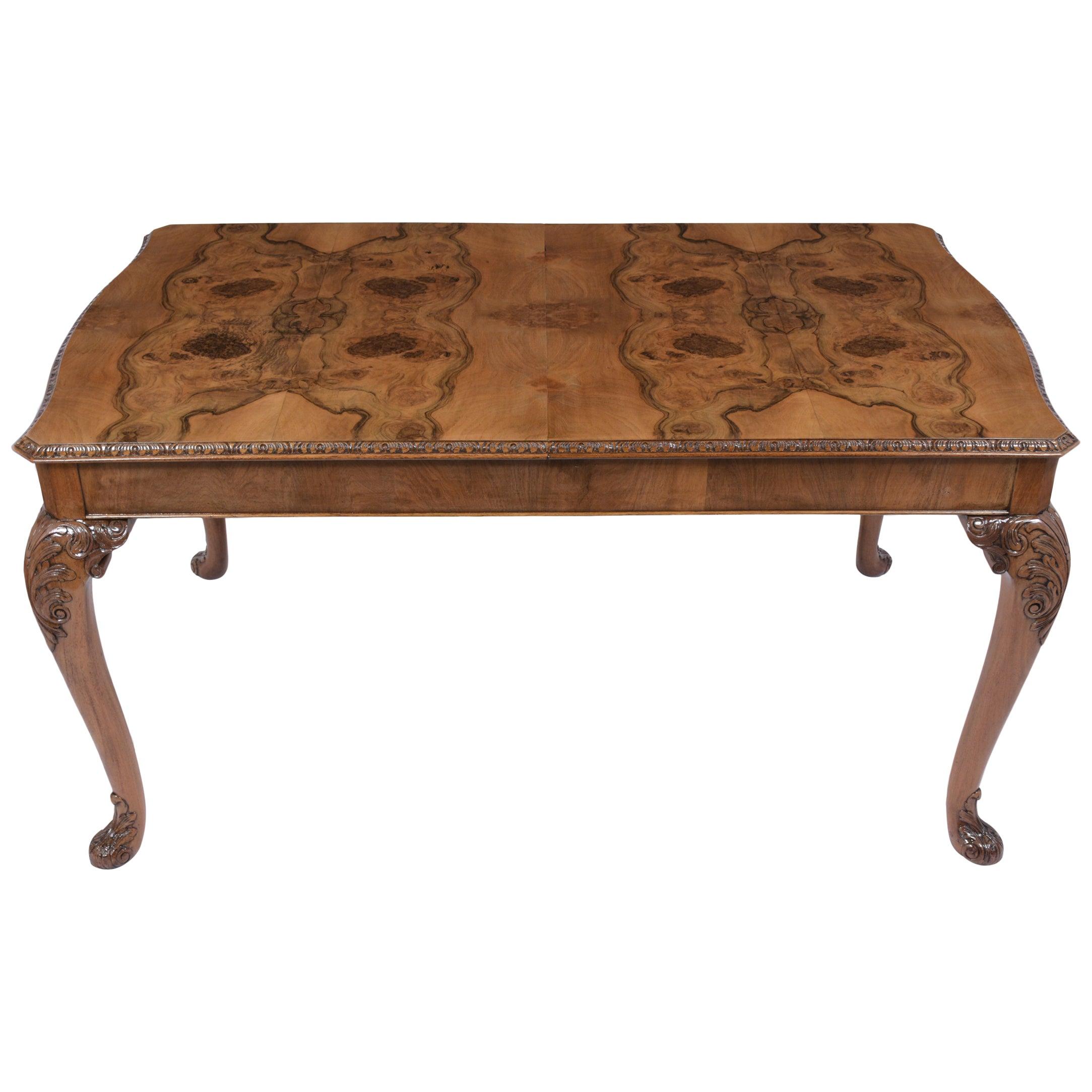 Antique English Walnut Dining Table