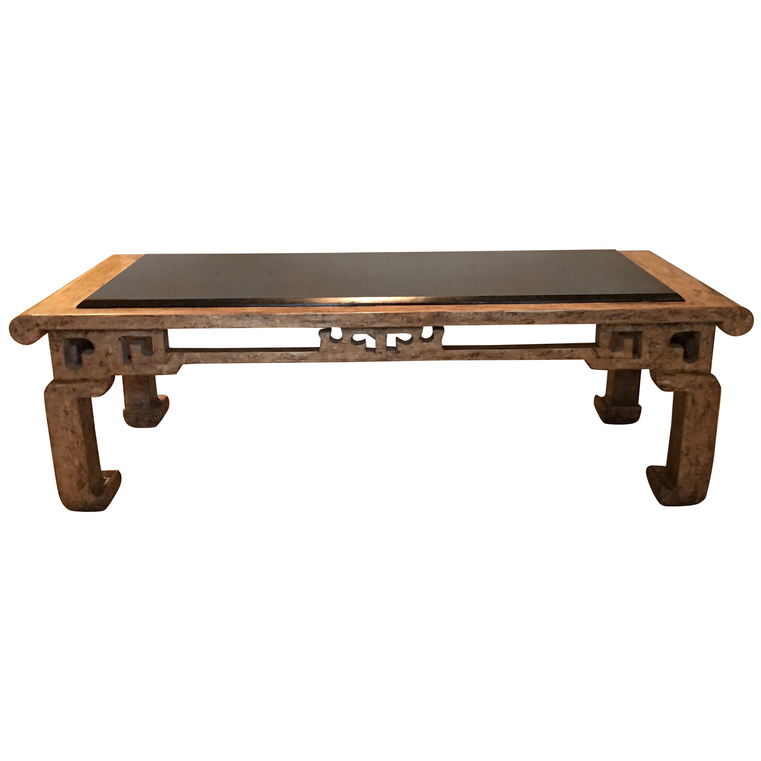 Steve Chase Modern Chinoiserie Granite Top Coffee Table