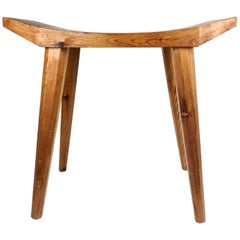 Swedish Stool in Lacquered Pine, 1970s