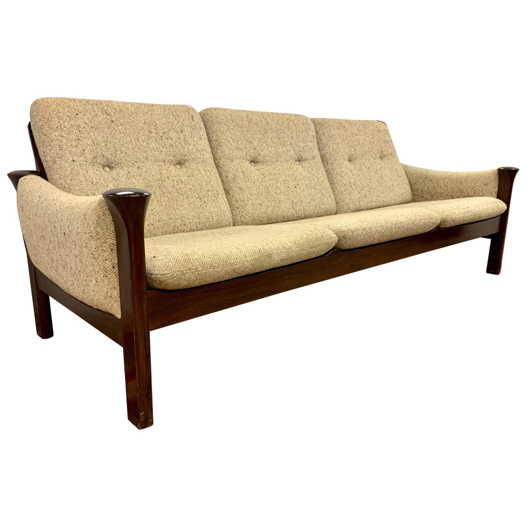 Arne Vodder for Cado Furniture Denmark Signed Three-Seat Danish Modern Sofa