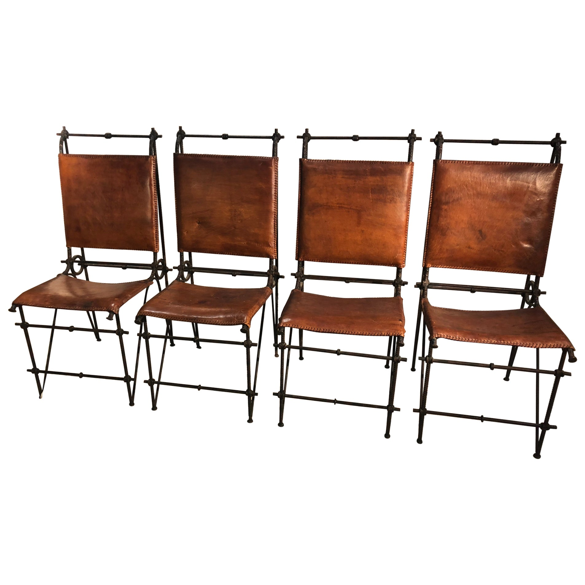 Set of 4 Ilana Goor 'Attributed' Dining Chairs, 1980s