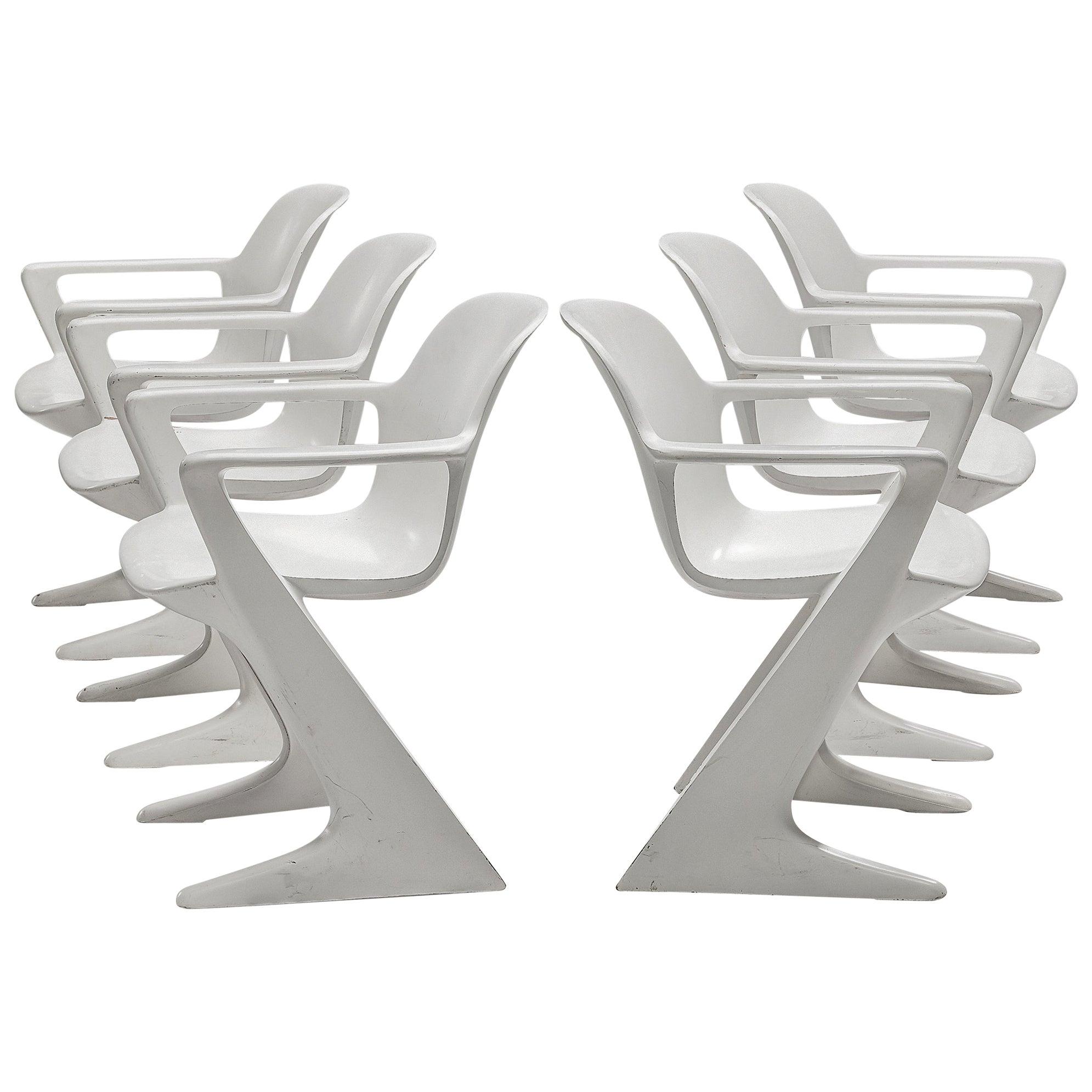 Ernst Moeckl White Kangaroo Chairs