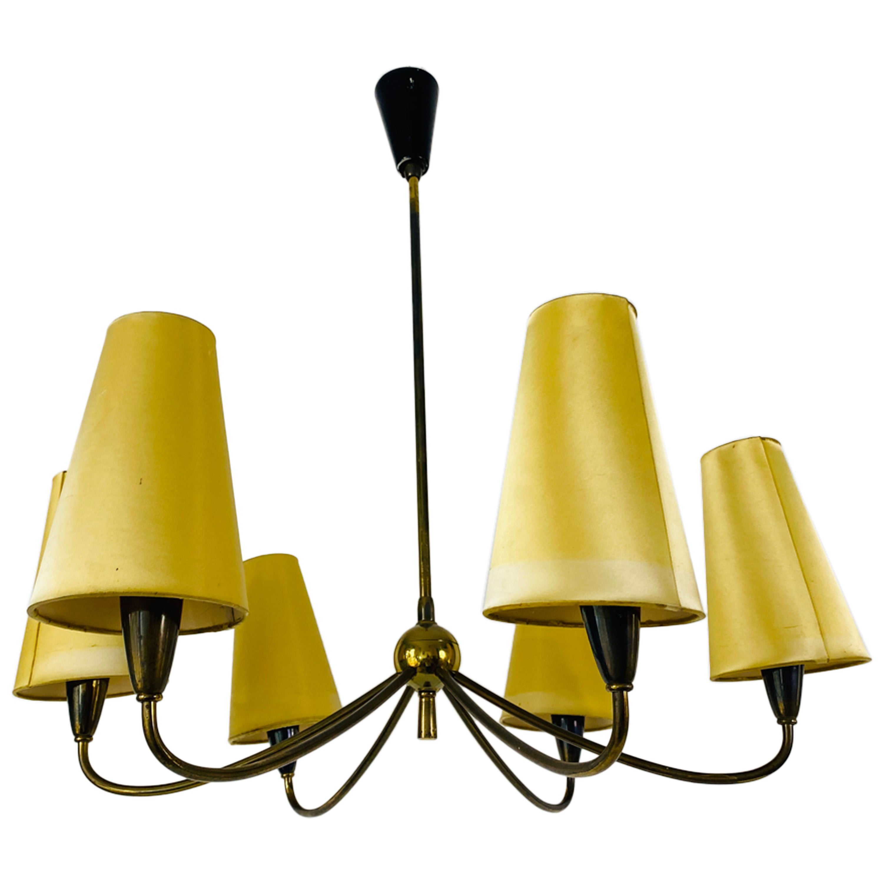 Midcentury Chandelier by Maison Lunel, 1950s