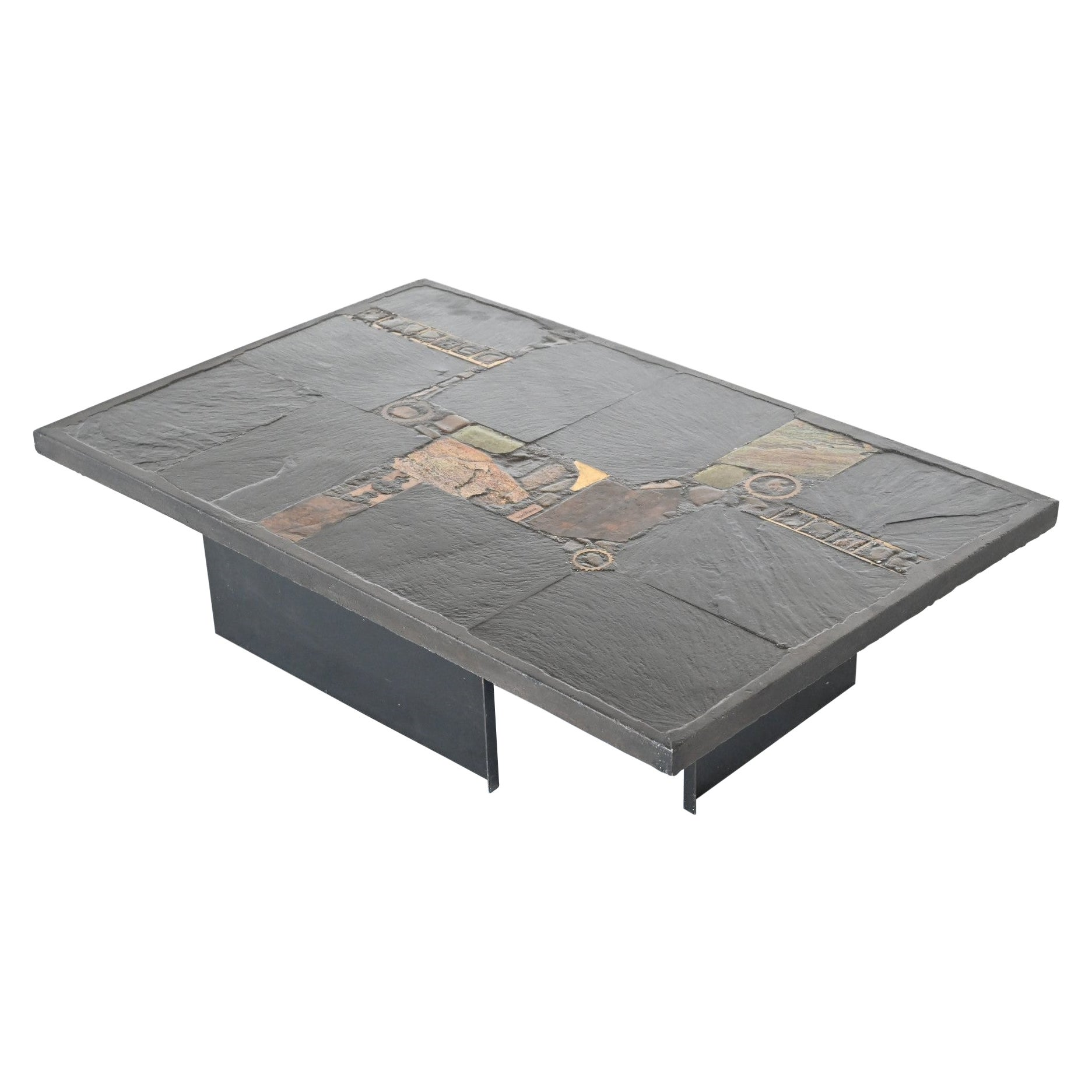 Paul Kingma black rectangular coffee table Netherlands 1980