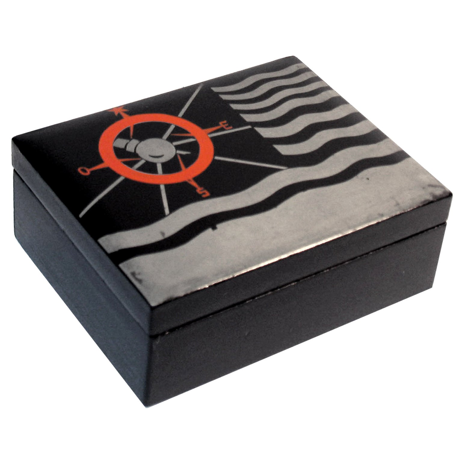 Art Deco Lacquered Decorative Jewelry Box