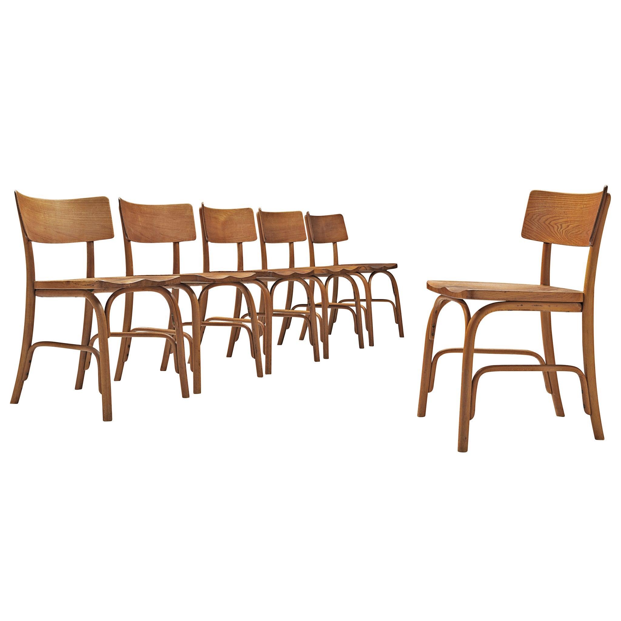 Frits Schlegel for Fritz Hansen Set of Six 'Husum' Chairs