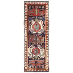 Antique Caucasian Lenkoran Runner