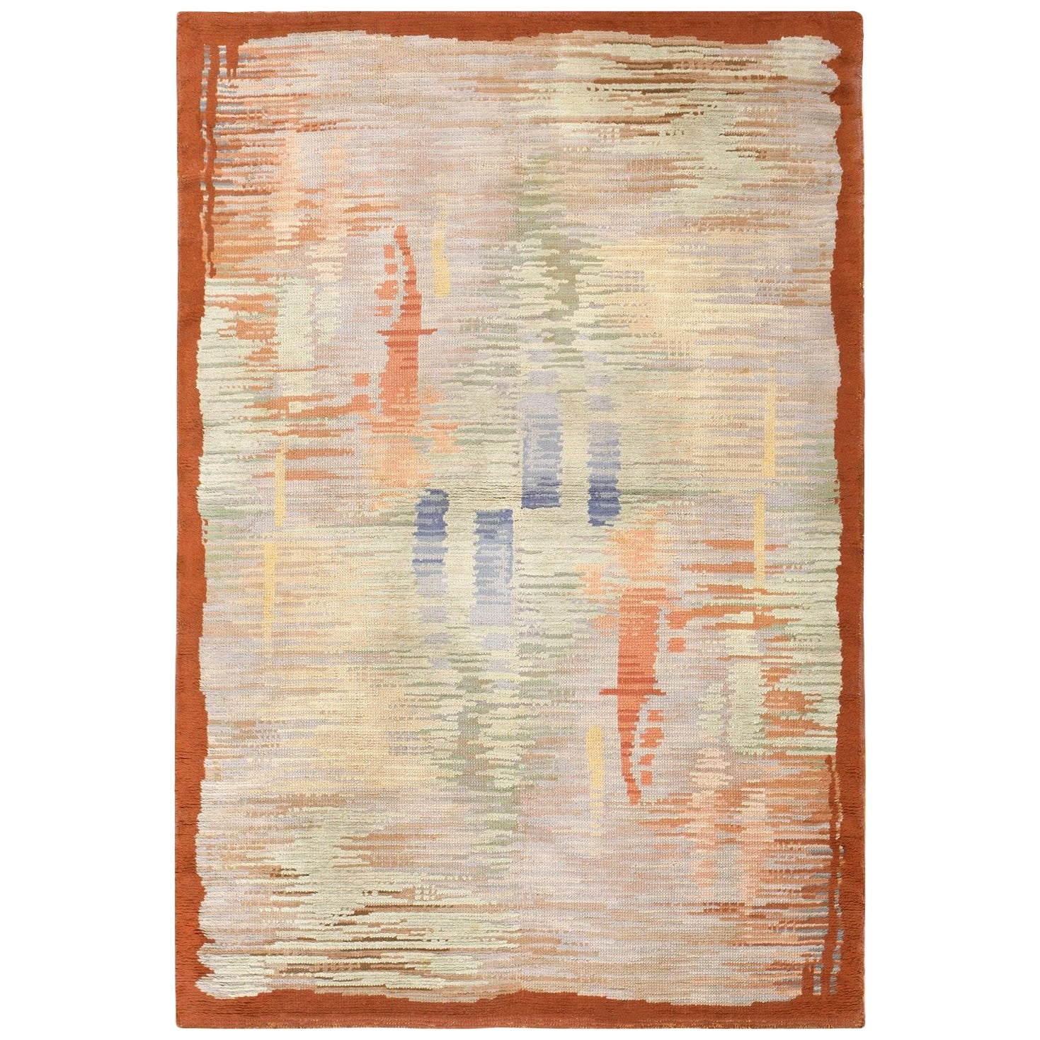 Vintage Surrealist French Art Deco Rug. Size: 5 ft 5 in x 8 ft 1 in