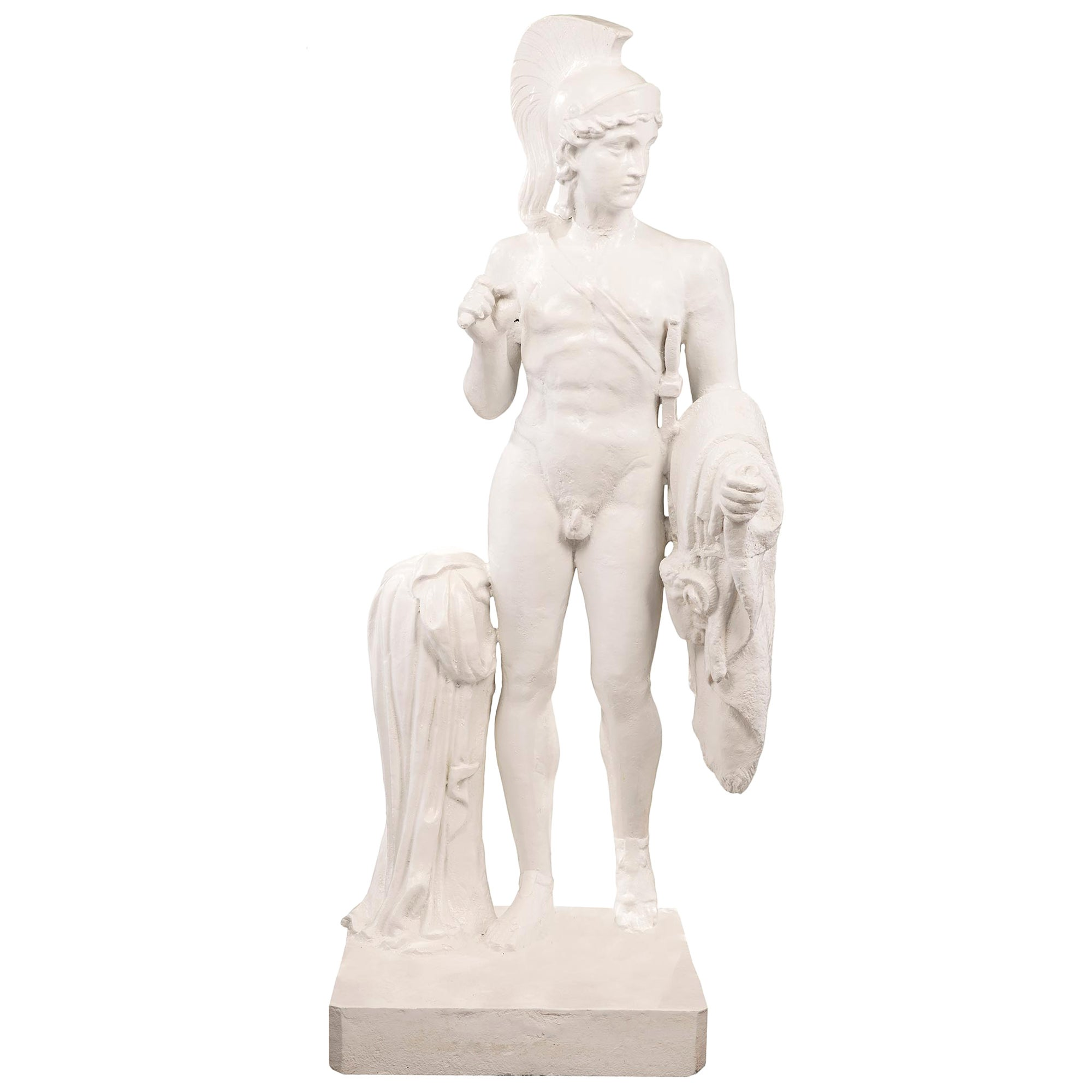 French 19th Century Cast Iron Statue of a Young Centurion