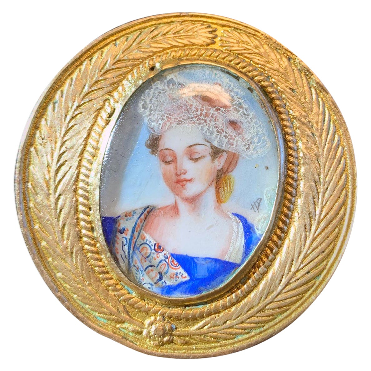 French Bronze Brooch Line Vautrin