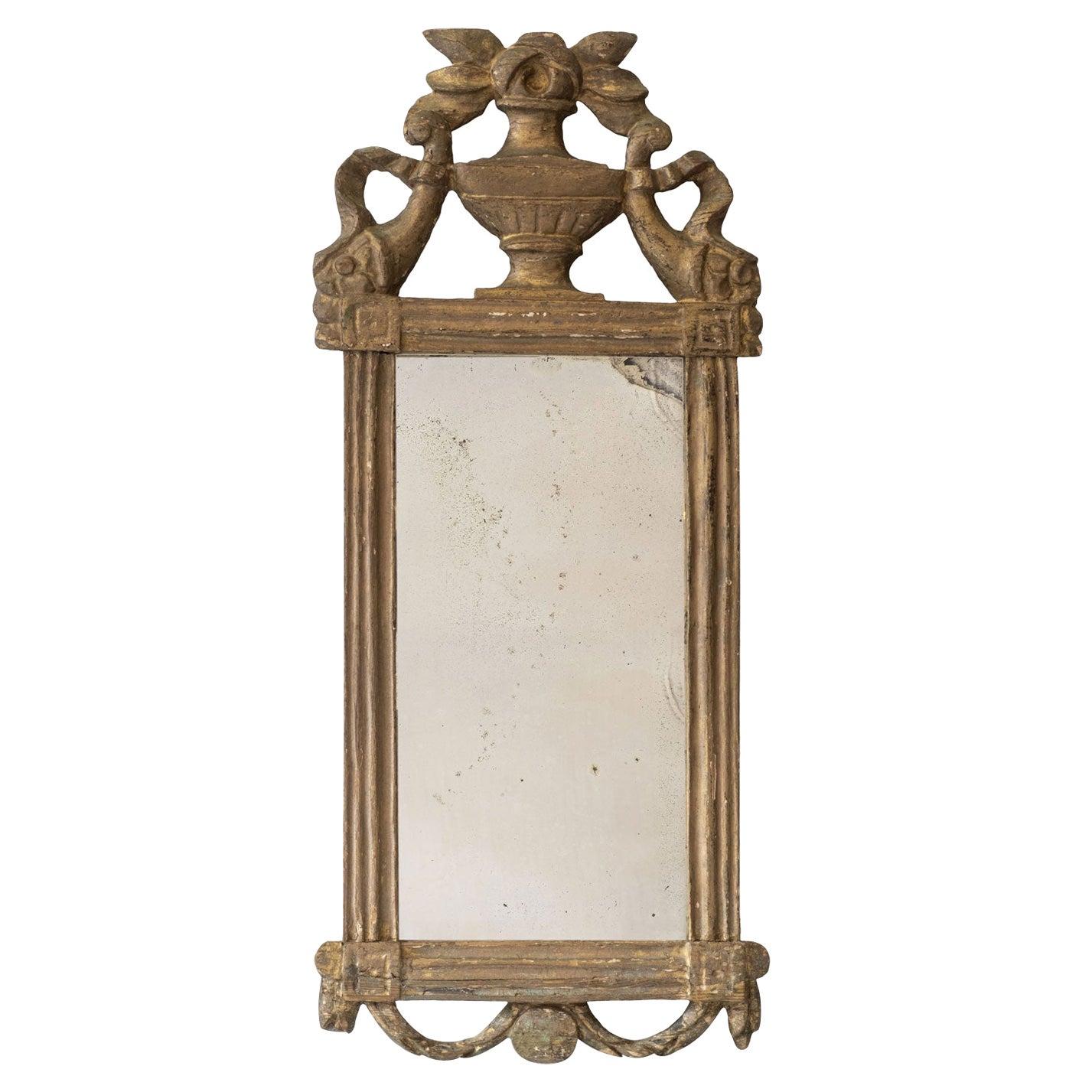 Petite Louis XVI Giltwood Mirror