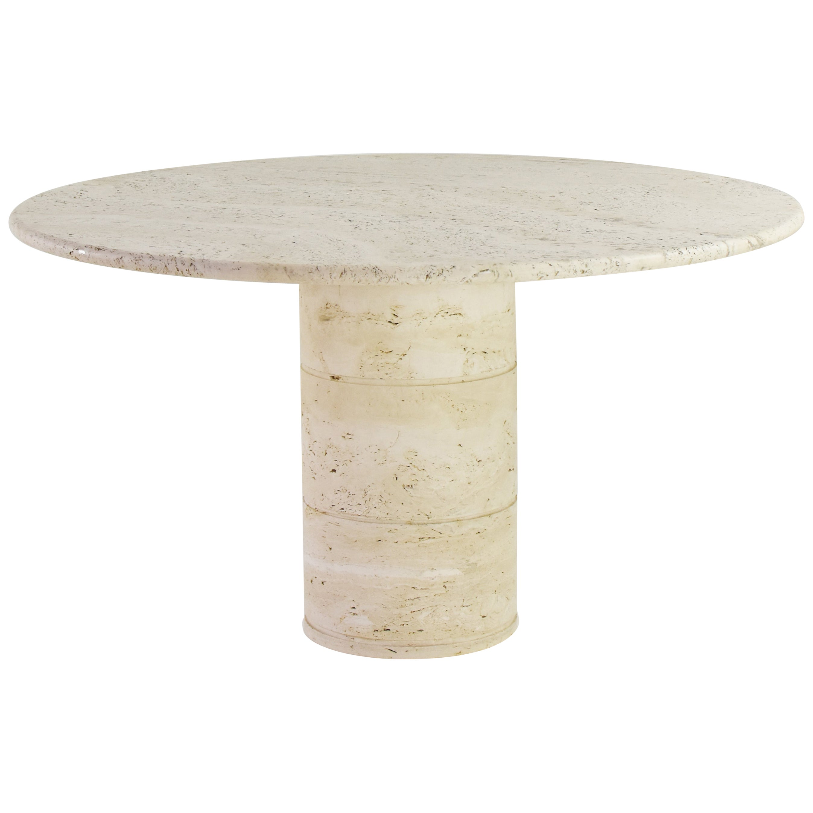 Travertine Dining Table, Italy, 1970s
