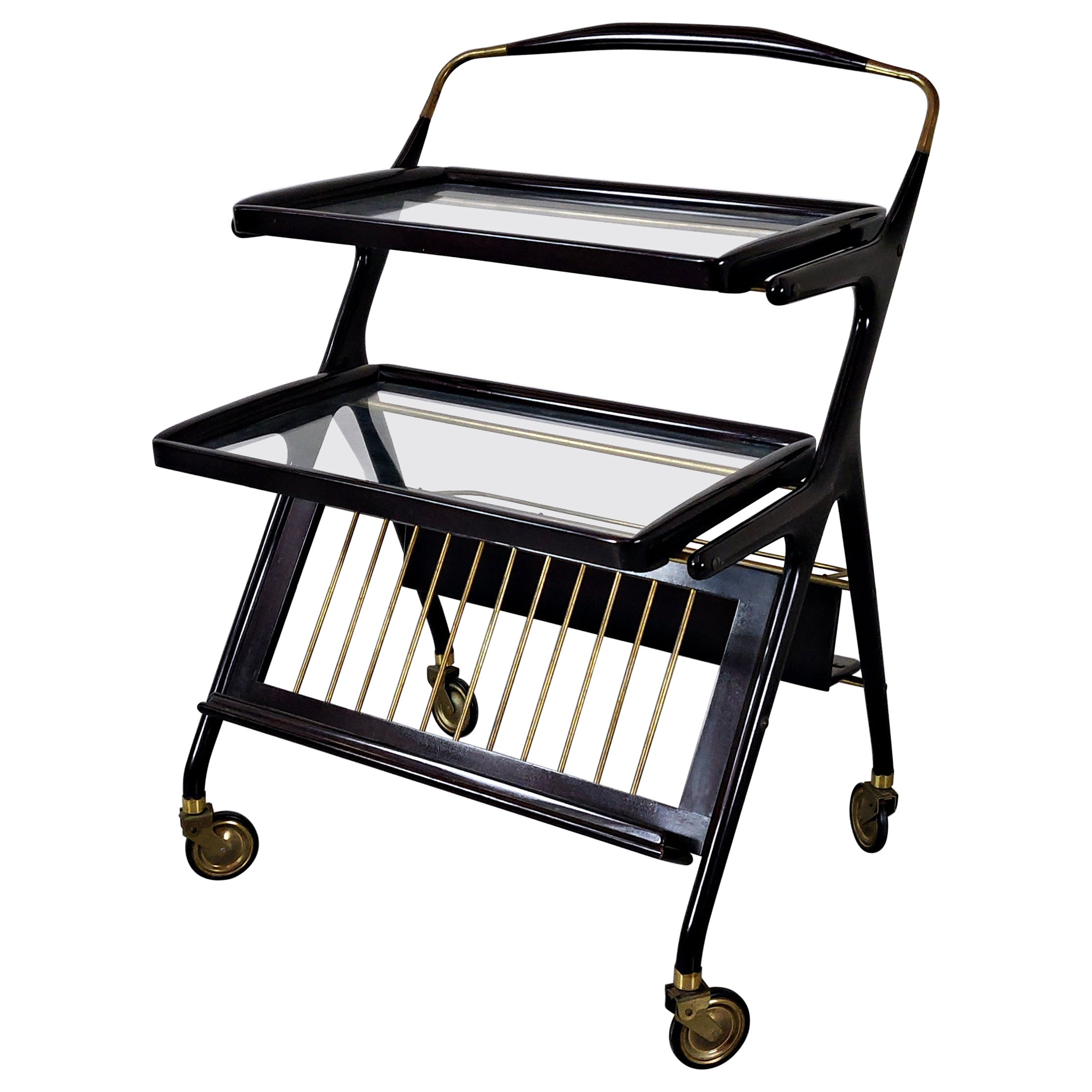 Italian Trolley Attributed to Cesare Lacca, 1950s