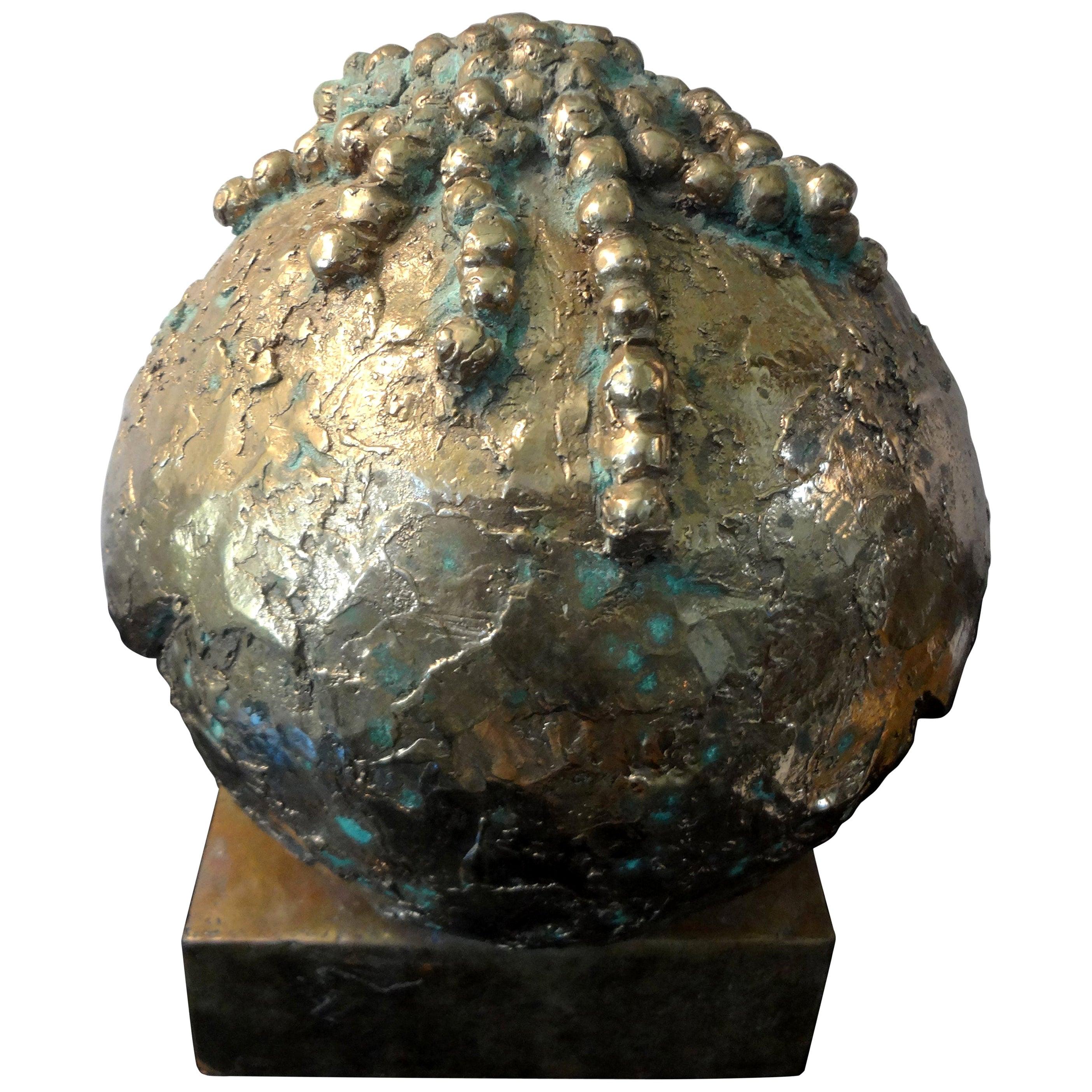 Midcentury Abstract Bronze Sculpture