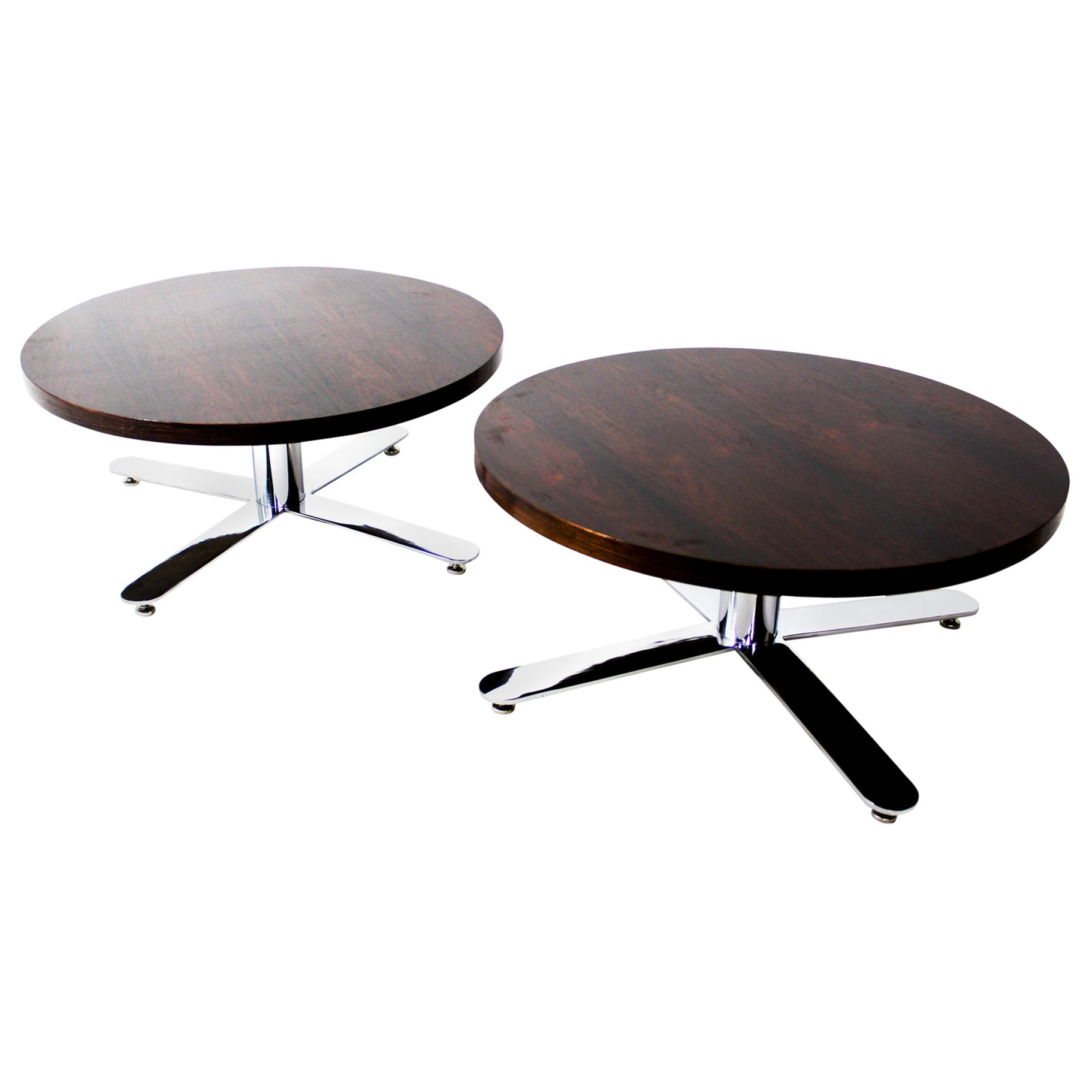 Mid-Century Modern Pair of Wood Coffee Tables, Brazil, 1960s