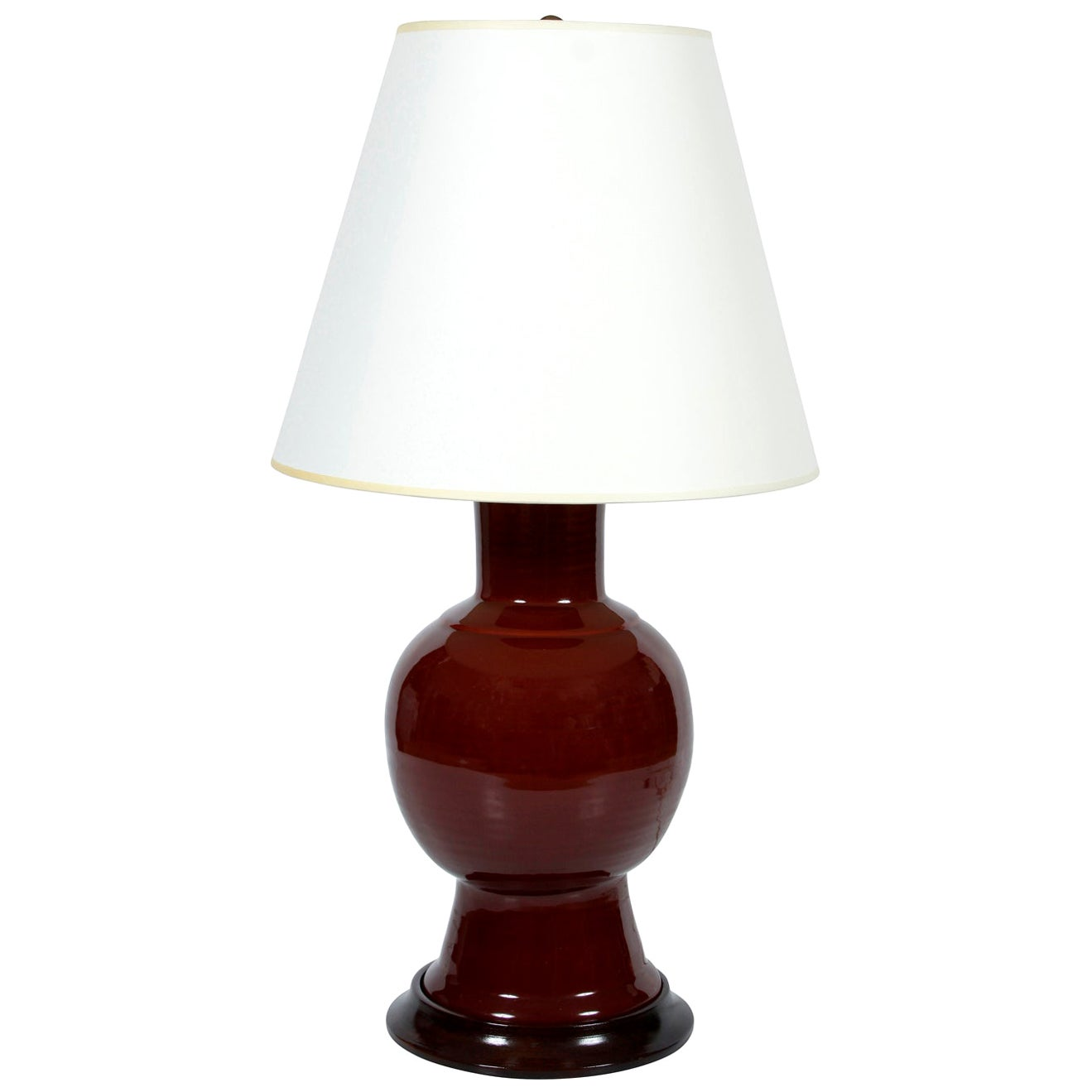 Christopher Spitzmiller Lamp with Wood Base